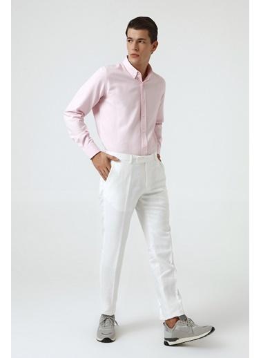 D'S Damat Slim Fit Kumaş Pantolon Beyaz